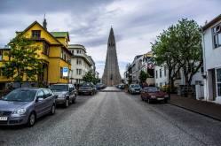 Hallgrimskirkja (Hallgrim's Church) in Reykjavik, Iceland.